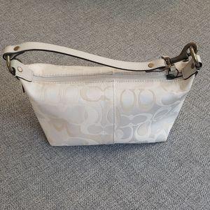 Coach mini purse with leather handle